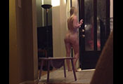 Watch video $350 – Naked In Front Of The Pizza Man