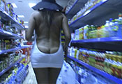 Watch video Flashing And Teasing At The Store (Sasha)