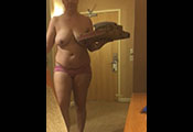 Watch video $200 – Topless Wife For Pizza Boy