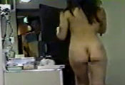 Watch video Sexy naked asian at door